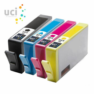 4 INK UCI Brand Fits For Hp 364 XL Photosmart 5510 5515 5520 5524 C6380 Printer • 7.79£