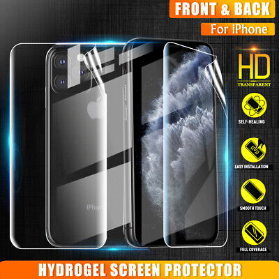AU5.95 • Buy Apple IPhone 11 Pro XS MAX XR X 7 8 6S Plus HYDROGEL Full Cover Screen Protector