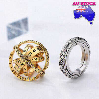 AU9.98 • Buy Wholesale Classic Gold/Silver Tone Astronomical Sphere Ball Cosmic Finger Ring