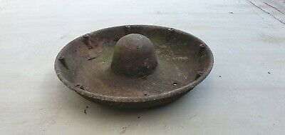 Old Cast Iron Mexican Hat Pig Feeder Vintage Rustic Trough Flower Planter Garden • 55£