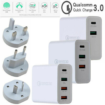 AU18.99 • Buy Type-C USB-C QC3.0 PD Mobile Phone Fast Charging Wall Charger Power Adapter