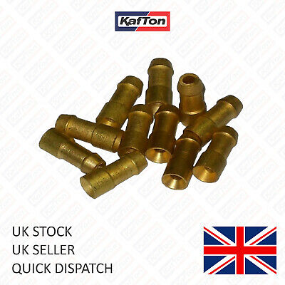 Uninsulated Brass Bullet Connectors 4.7mm Lucas Type Electrical Terminals Crimp • 3.95£