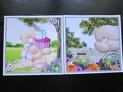 NEW--- 2 X FOREVER FRIENDS Birthday Card Toppers (NEW SIZE) • 1.25£