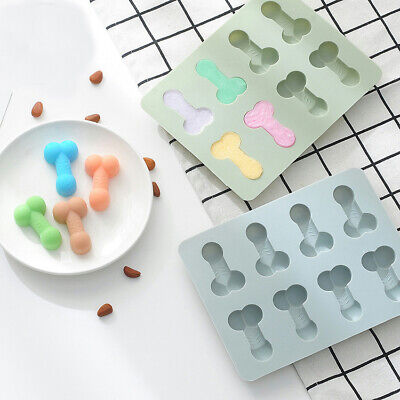 Penis Cake Jelly Cookies Soap Mold Chocolate Baking Tool Mould Tray Wax Ice Cube • 3.59£