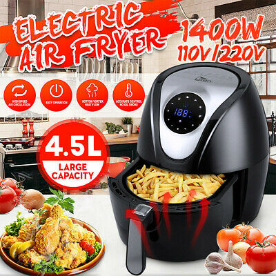 View Details 1400W 4.5L Digital Air Fryer Oil Free Healthy Cooker Oven Low Fat Food Frying UK • 40.99£