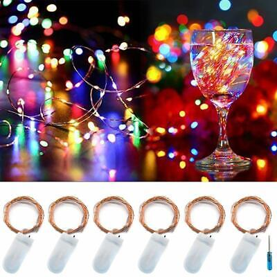 $10.75 • Buy Twinkle Star 20Led 6.5 Ft Fairy Copper String Lights Cell Battery Operated With