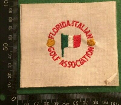 £4.49 • Buy Embroidered Cloth Patch Badge Patchwork - Florida Italian Golf Assoc   (dd85)