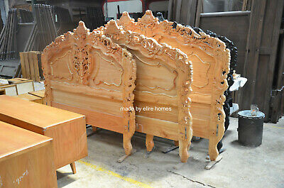 First Time In UK 100% OAK Wood French Style Rococo Bed ...... UK Super King Size • 849£