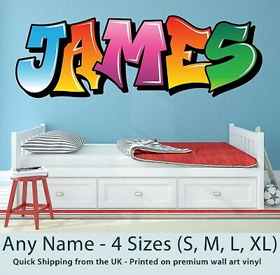 Childrens Name Wall Stickers Art Personalised Graffiti For Boys / Girls Bedroom • 19.99£