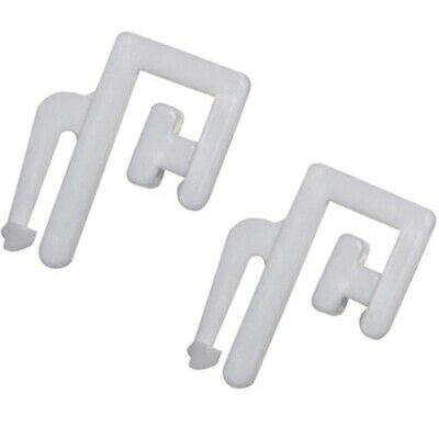 32x White Nylon SWISH RUCHE AUSTRIAN FESTOON CURTAIN HOOKS Durable Track Gliders • 4.46£