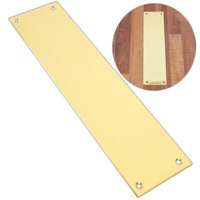 £7.47 • Buy 300mm SOLID BRASS FINGER PLATE Quality Victorian Style Push Pull Panel Cover UK