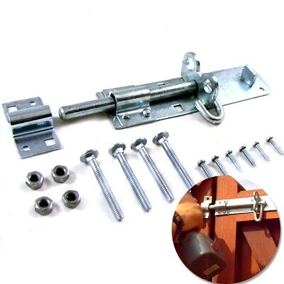 SLIDING PAD BOLT LOCK 8  Large Galvanized Secure Outdoor Shed Gate Latch Catch • 7.05£