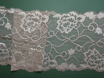 £3.20 • Buy The Place For Lace - Beige Skintone Satin Flower Stretch Lace Trim 6.5 /16.5cm