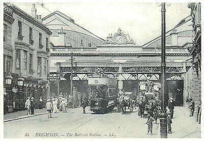 £1.99 • Buy Brighton Railway Station Tram In Front Mayfair Cards Of London Postcard