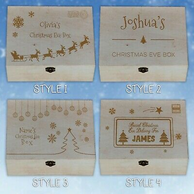 Personalised Laser Engraved Wooden Christmas Eve Xmas Box • 12.99£