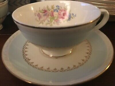 $9.95 • Buy Homer Laughlin Georgian Eggshell Chateau Blue Cup And Saucer