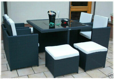 Cube Rattan Garden Furniture Set Chairs Sofa Table Outdoor Patio Wicker 8 Seater • 429.95£