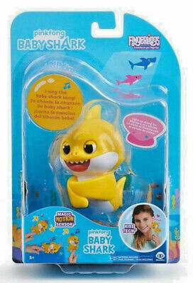 $7.99 • Buy *BABY SHARK* Fingerling Light Up Mood Fin Sings Pinkfong Song Authentic WowWee