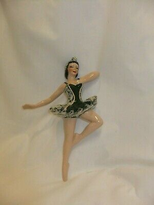 $13.99 • Buy Ceramic Arts Studio: Grace; Ballet Dancer, Dark Green Tutu, 9  Ceramic Wall Plaq