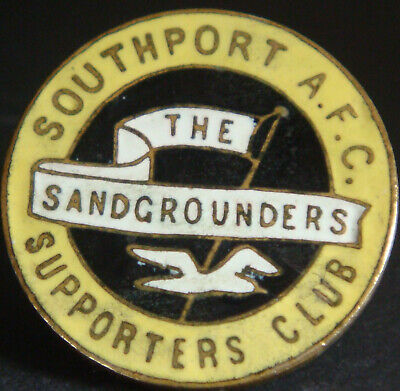 £14.99 • Buy SOUTHPORT FC Vintage SUPPORTERS CLUB Badge Brooch Pin In Gilt 25mm Dia