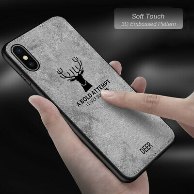 AU5.65 • Buy IPhone X XS MAX XR 7 8 Plus SE 2nd Leather Case Cover Deer Pattern Fast Delivery