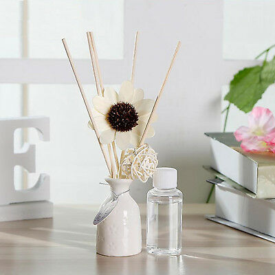 AU9.45 • Buy 6 Scent Sunflower Ceramic Fragrance Scented Oil Reed Diffuser Set ~30ml/Each