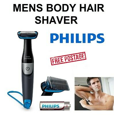 AU62.49 • Buy PHILIPS Mens Body Hair Shaver With Trimmer Cordless Grooming Shaving Portable