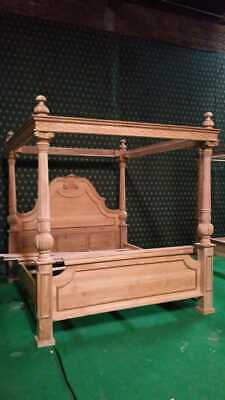 £1999 • Buy Super King Size Designer French Style 100% Solid Wood Mahogany Four Poster Bed