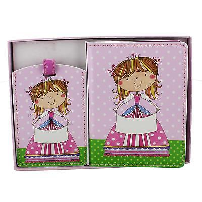 £19.99 • Buy Girls Princess Passport Cover And Luggage Tag Set Gift