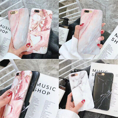 AU5.53 • Buy Soft Marble Phone Back Case Slim Protective Cover For IPhone Xs Max 6 6S 7 8+ XR
