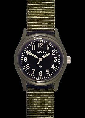$ CDN74.49 • Buy MWC Retro Pattern Olive General Service Watch With A European Dial Format