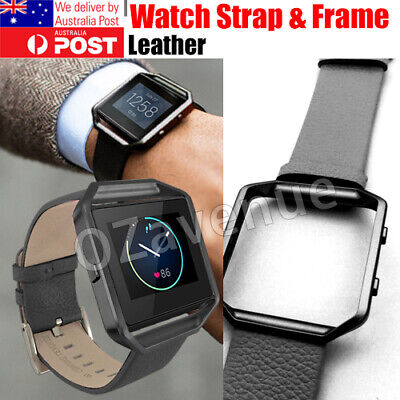 AU14.44 • Buy FitBit Blaze Leather Black Replacement Band + Frame - Melbourne