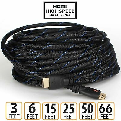 AU8.59 • Buy New 4K Ultra HD Premium HDMI Cable 26AWG Gold Plated 3D High Speed Up To 20M