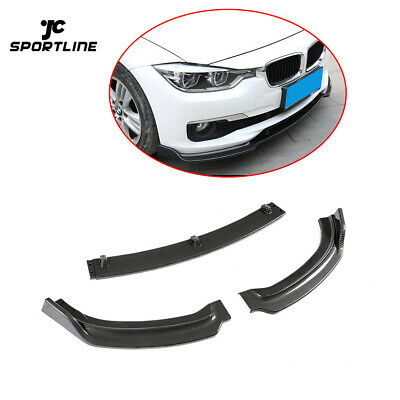 AU303.55 • Buy 3Pcs Front Bumper Lip Splitter For BMW F30 F35 Base Sedan 13-18 Carbon Look