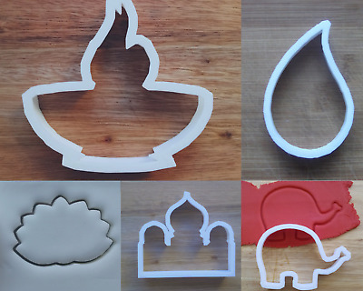 £3.89 • Buy Diwali Cookie Cutter Biscuit Pastry Fondant Stencil Candle Flame Mosque