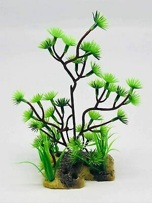 2x Artificial Aquatic Plants, Small Aquarium Plants Plastic • 5.99£