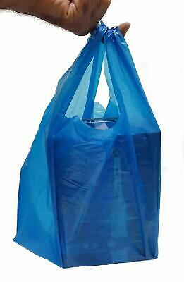 New X-large Strong Blue Plastic Vest Carrier Bags Shopping Markets Takeaway • 3.99£