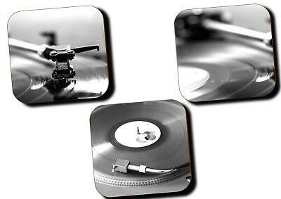 Vinyl Records Music Record Player Coasters - Set Of 3 - Hardboard - Gifts • 6.99£