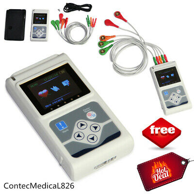 £219.58 • Buy TLC9803 ECG Holter 24 Hours Dynamic EKG Holter 3 Channel 12 Leads Software USB
