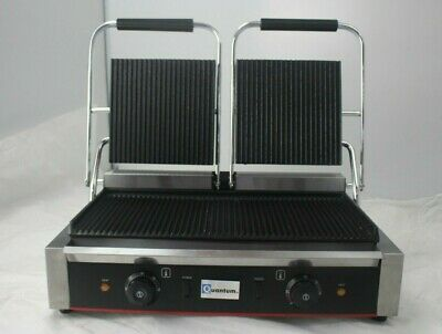 Catering Clamp Grill Double Sided Panini Press Twin Contact Commercial TCGR • 249.99£