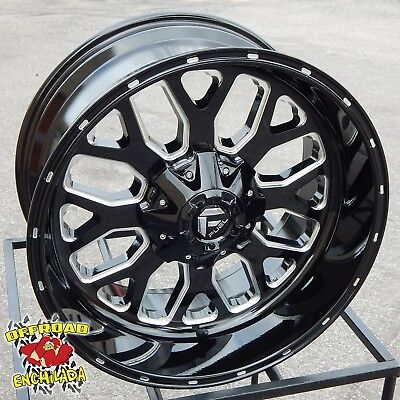 $1228 • Buy 20x10  BLACK FUEL TITAN WHEELS RIMS FORD F-250 F-350 SUPER DUTY LARIAT FX4 8x170