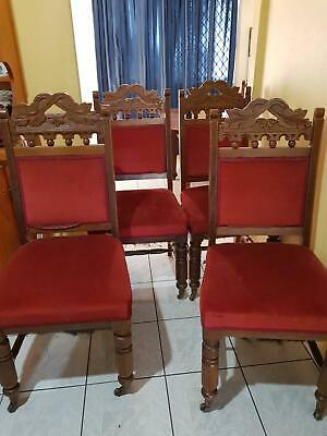 AU750 • Buy Antique Dining Chairs X 6