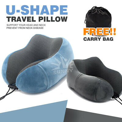 AU14.85 • Buy U-shaped Travel Pillow Memory Foam Rebound Sleeping Pad Neck Support Headrest