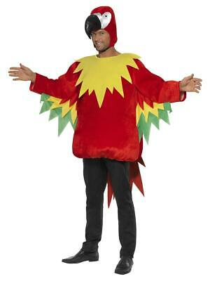 Adult Parrot Costume Jungle Bird Animal Fancy Dress Outfit • 25.05£