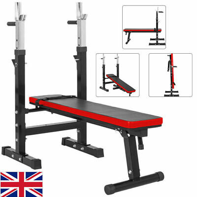 £199.99 • Buy Adjustable Folding Sit Up Bench Barbell Weight Workout Gym Lifting Chest Press
