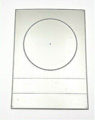£9 • Buy Large Metal Rectangle Frame With Circle Window Cutting Dies / Cutting Die 17.5cm