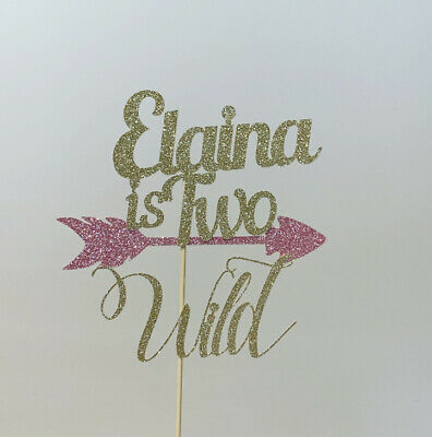 AU18.50 • Buy Personalised Two Wild Cake Topper 2 2nd Birthday Arrow Tribal
