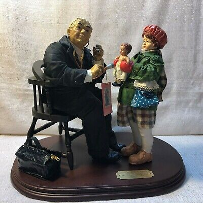 $395 • Buy Norman Rockwell Clothique Collection Doctor & Doll 12.5  Figurine 3055