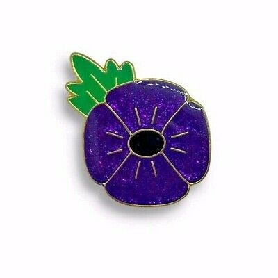 Purple Poppy Glitter - Animals In War - Badge • 2.99£