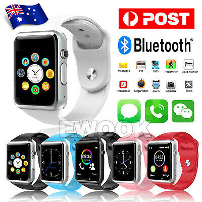 AU25.95 • Buy Bluetooth Smart Wrist Watch A1 GSM Phone For Android Samsung IPhone Man Women AU
